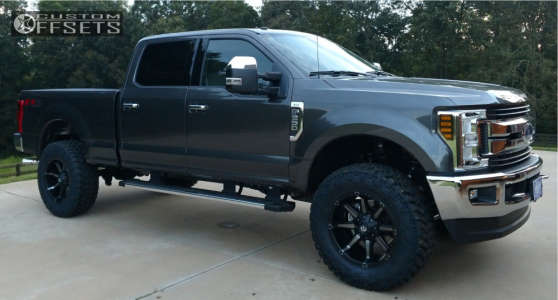 """2019 Ford F-250 Super Duty - 20x10 -12mm - Fuel Coupler - Leveling Kit - 37"""" x 12.5"""""""