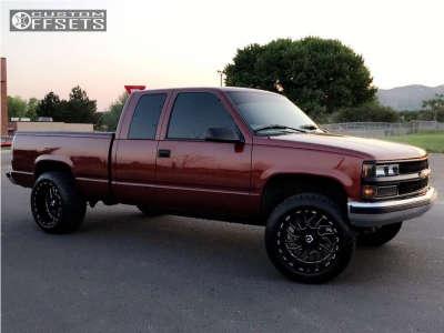 1998 Chevrolet K1500 - 20x12 -44mm - Tis 544bm - Leveling Kit - 305/50R20