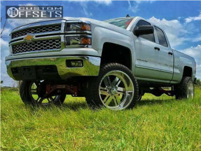 "2014 Chevrolet Silverado 1500 - 24x12 -40mm - American Force Shift Ss - Suspension Lift 9"" - 325/45R24"