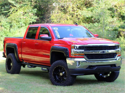 "2018 Chevrolet Silverado 1500 - 20x12 -44mm - Anthem Off-Road A771 - Suspension Lift 7"" - 35"" x 13.5"""