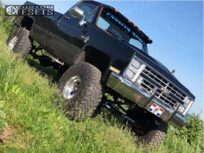 "1985 Chevrolet K20 Pickup - 16x10 -45mm - Weld Racing Stone Crusher - Suspension Lift 8"" - 385/70R16"