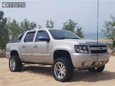 "2008 Chevrolet Avalanche - 20x10 -24mm - Moto Metal Mo962 - Suspension Lift 5.5"" - 33"" x 12.5"""
