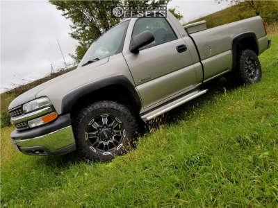 2000 Chevrolet Silverado 2500 - 17x8 1mm - Ultra Phantom 225 - Stock Suspension - 285/70R17
