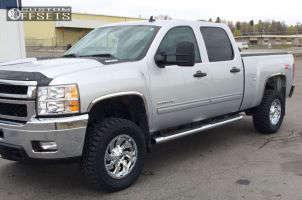 "2014 Chevrolet Silverado 2500 HD - 18x9 1mm - Fuel Cleaver - Leveling Kit - 33"" x 12.5"""