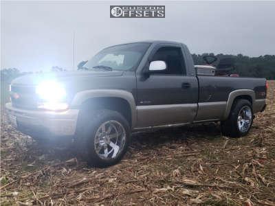 """2000 Chevrolet Silverado 1500 - 20x12 -44mm - Moto Metal Mo962 - Level 2"""" Drop Rear - 305/50R20"""