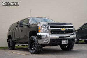 "2009 Chevrolet Silverado 2500 HD - 20x10 -22mm - Raptor Criminally Insane - Leveling Kit - 33"" x 12.5"""