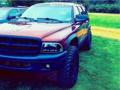 """2003 Dodge Durango - 17x8 0mm - Tuff T01 - Suspension Lift 3.5"""" - 295/70R17"""