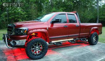 "2006 Dodge Ram 2500 - 20x10 -19mm - Fuel Rampage - Suspension Lift 3"" - 35"" x 12.5"""