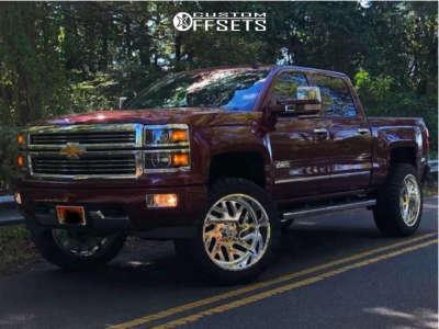 "2015 Chevrolet Silverado 1500 - 24x12 -40mm - American Force Rook Ss - Suspension Lift 6.5"" - 315/50R24"