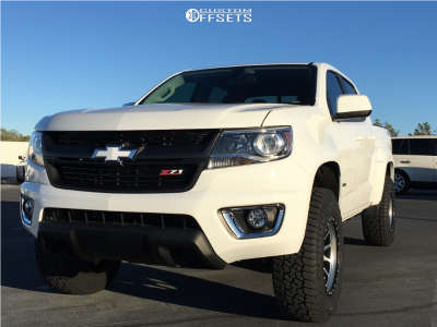 2018 Chevrolet Colorado - 17x9 0mm - DWG Offroad Dw10 - Leveling Kit - 265/70R17