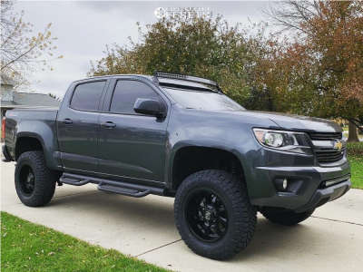 2017 Chevrolet Colorado - 18x9 0mm - Panther Offroad 578 - Leveling Kit & Body Lift - 275/70R18