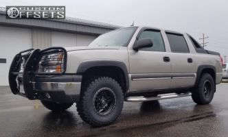 2003 Chevrolet Avalanche - 17x8.5 0mm - Fuel Anza - Leveling Kit - 285/70R17