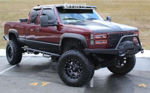 "1998 GMC K1500 - 17x10 -24mm - Fuel 538 - Suspension Lift 6"" & Body 3"" - 37"" x 12.5"""
