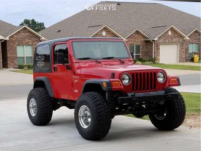 "2000 Jeep Wrangler - 15x12 -63mm - Mickey Thompson Classic Iii - Suspension Lift 5"" - 35"" x 12.5"""