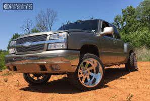 """2003 Chevrolet Silverado 1500 - 22x14 -76mm - Fuel Ff02 - Suspension Lift 3.5"""" - 305/40R22"""