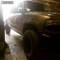 2000 Chevrolet Silverado 1500 - 16x8 -12mm - Vision Soft 8 - Leveling Kit - 285/75R16