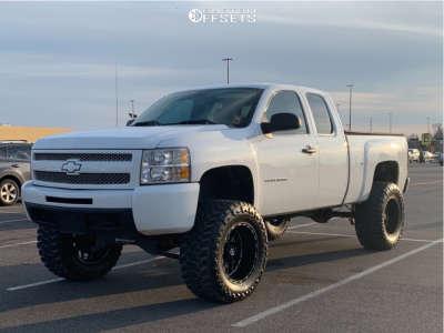 "2010 Chevrolet Silverado 1500 - 20x12 -44mm - Tis 544bm - Suspension Lift 10"" - 38"" x 15.5"""