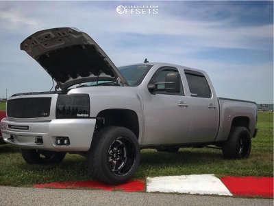"2010 Chevrolet Silverado 1500 - 20x12 -43mm - Fuel Turbo - Suspension Lift 2.5"" - 305/50R20"