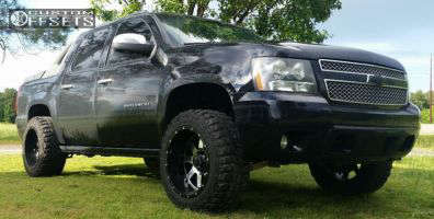 """2008 Chevrolet Avalanche - 20x12 -44mm - Gear Off-Road Big Block - Leveling Kit - 33"""" x 12.5"""""""