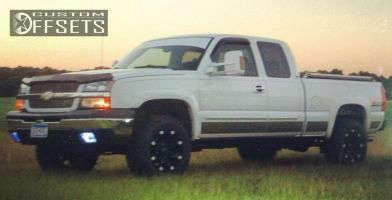 "2003 Chevrolet Silverado 1500 - 18x9 -12mm - Ballistic Jester - Leveling Kit - 33"" x 11.5"""