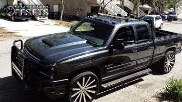 "2003 Chevrolet Silverado 1500 - 24x10 25mm - Velocity VW12 - Stock Suspension - 27"" x 10.5"""