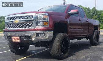 "2015 Chevrolet Silverado 1500 - 20x12 -44mm - Ballistic Rage - Suspension Lift 7.5"" - 35"" x 12.5"""