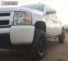 "2011 Chevrolet Silverado 1500 - 18x9 -12mm - Mayhem Rampage - Suspension Lift 3.5"" - 285/65R18"