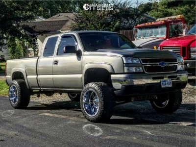 "2006 Chevrolet Silverado 1500 - 20x12 -44mm - Scorpion Sc18 - Suspension Lift 6"" - 305/55R20"
