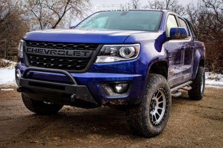 "2016 Chevrolet Colorado - 17x9 0mm - DWG Offroad Dw10 - Suspension Lift 3"" - 265/70R17"