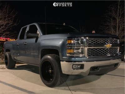 """2014 Chevrolet Silverado 1500 - 20x12 -44mm - Luxxx Hd Lhd2 - Level 2"""" Drop Rear - 305/50R20"""