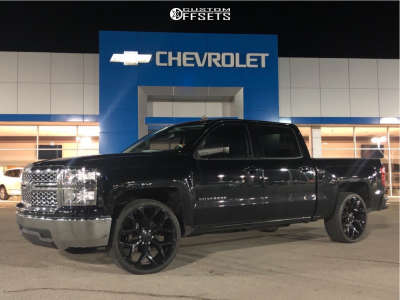 """2014 Chevrolet Silverado 1500 - 24x10 31mm - Factory Reproduction FR-59 - Level 2"""" Drop Rear - 295/35R24"""
