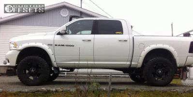 """2012 Ram 1500 - 20x10 -24mm - Xd Rockstar - Suspension Lift 6"""" - 35"""" x 12.5"""""""