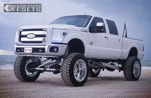 """2011 Ford F-250 - 24x14 -73mm - American Force INDEPENDENCE SS - Lifted >9"""" - 40"""" x 15.5"""""""