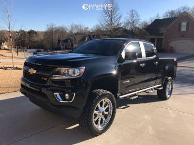"""2016 Chevrolet Colorado - 20x9 0mm - XD Buck - Suspension Lift 6"""" - 285/55R20"""