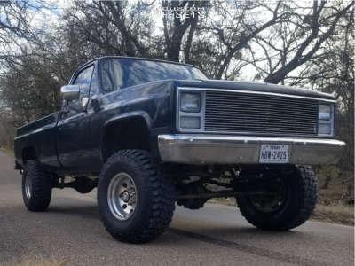 "1985 Chevrolet K20 Pickup - 16x10 -25mm - American Racing Baja - Suspension Lift 4"" - 315/75R16"