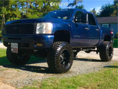 "2010 Chevrolet Silverado 1500 - 20x12 -44mm - Fuel Hostage - Suspension Lift 7.5"" & Body 3"" - 38"" x 15.5"""