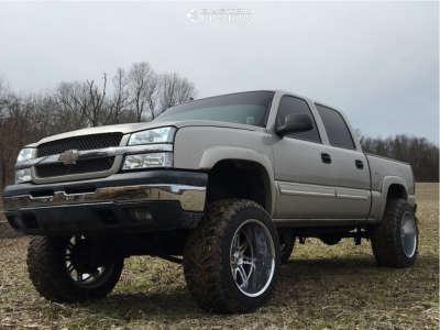 "2005 Chevrolet Silverado 1500 - 22x14 -76mm - Alloy Ion Style 183 - Suspension Lift 9"" - 37"" x 13.5"""