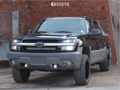 2002 Chevrolet Avalanche 1500 - 20x10 -19mm - Gear Off-Road Big Block - Leveling Kit - 275/55R20