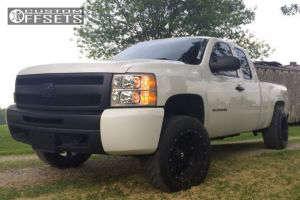 """2011 Chevrolet Silverado 1500 - 20x12 -44mm - Fuel Hostage - Suspension Lift 4"""" - 305/50R20"""