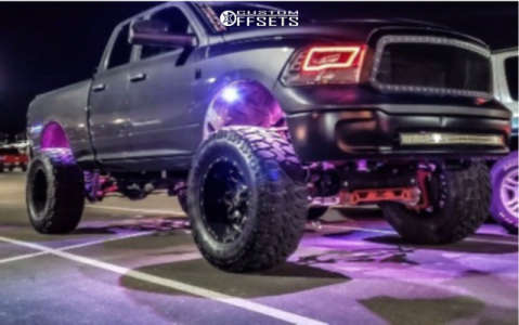 """2015 Ram 1500 - 20x12 -44mm - Fuel Lethal - Lifted >12"""" - 38"""" x 15.5"""""""