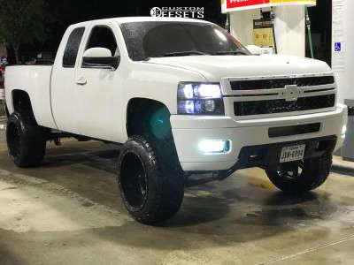 "2011 Chevrolet Silverado 1500 HD - 22x14 -76mm - Fuel Hostage - Suspension Lift 9"" - 35"" x 12.5"""