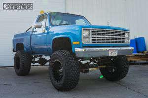 "1984 Chevrolet K10 - 20x12 -44mm - Moto Metal Mo970 - Suspension Lift 6"" & Body 3"" - 40"" x 15.5"""