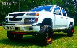 """2011 Chevrolet Colorado - 20x12 -44mm - XD Riot - Suspension Lift 3.5"""" - 285/50R20"""