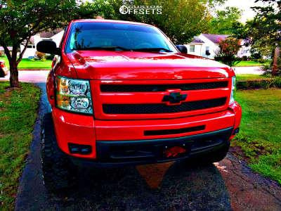 """2010 Chevrolet Silverado 1500 - 20x12 -44mm - XD Grenade - Suspension Lift 7.5"""" - 35"""" x 13.5"""""""