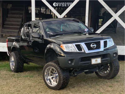 """2012 Nissan Frontier - 20x12 -44mm - American Force Octane Ss - Suspension Lift 7.5"""" - 33"""" x 12.5"""""""