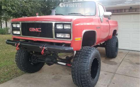 """1983 Chevrolet C10 - 20x14 -76mm - Fuel Hostage D531 - Suspension Lift 12"""" - 40"""" x 15.5"""""""