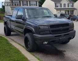 2003 Chevrolet Silverado 1500 - 20x12 -44mm - Moto Metal MO962 - Leveling Kit - 285/50R20