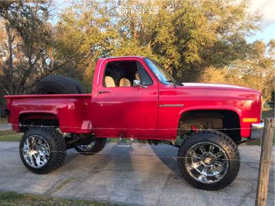 "1986 Chevrolet K10 Pickup - 22x14 -76mm - XD Riot - Suspension Lift 6"" - 35"" x 12.5"""