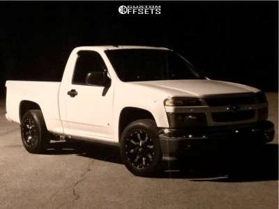 2009 Chevrolet Colorado - 16x8 0mm - Moto Metal Mo970 - Stock Suspension - 245/75R16