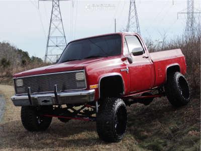 "1985 Chevrolet K20 Pickup - 24x14 -75mm - Fuel Maverick - Suspension Lift 7"" - 35"" x 12.5"""